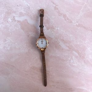 Fossil Tan Rose Gold Small Women's Watch